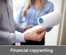 Financial copywriting