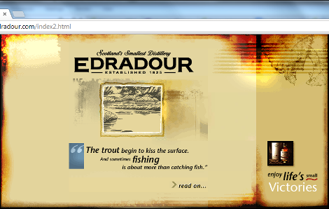 Edradour special introduction web page