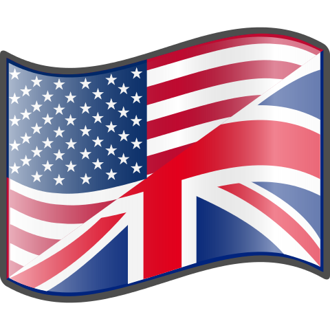 Mixed USA and UK flag