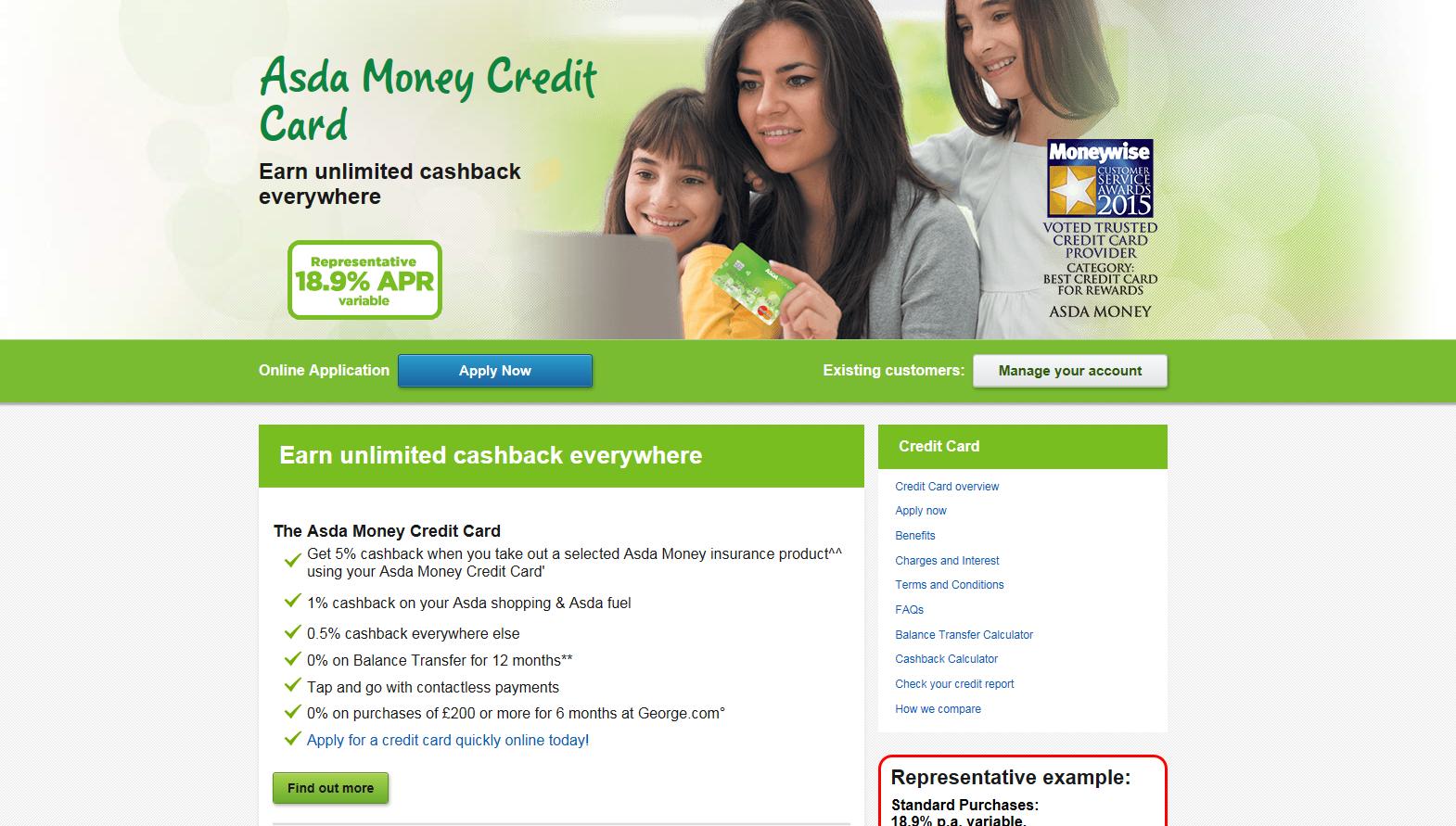 Asda Money website