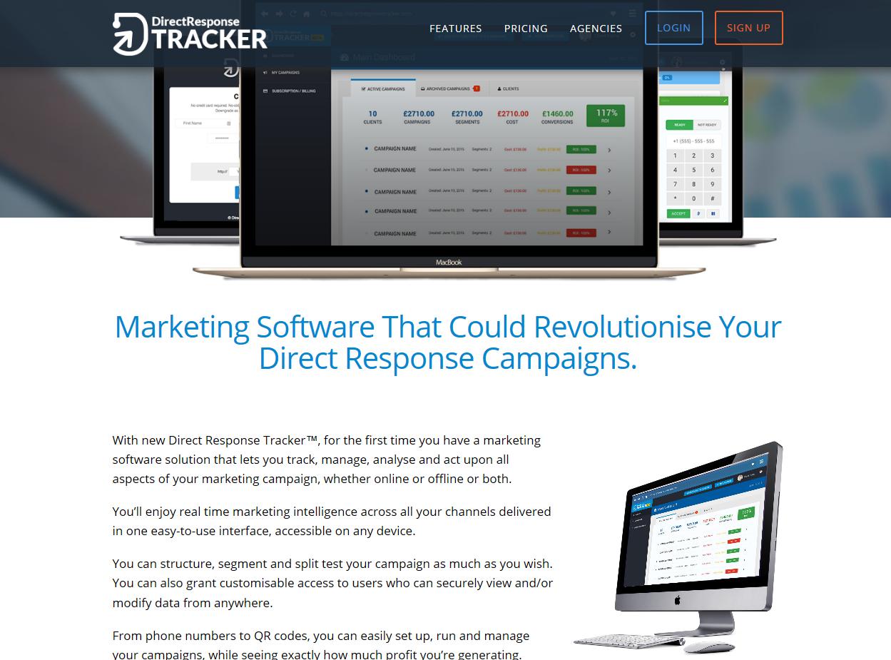 Direct Response Tracker website