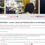 London Art Portfolio website