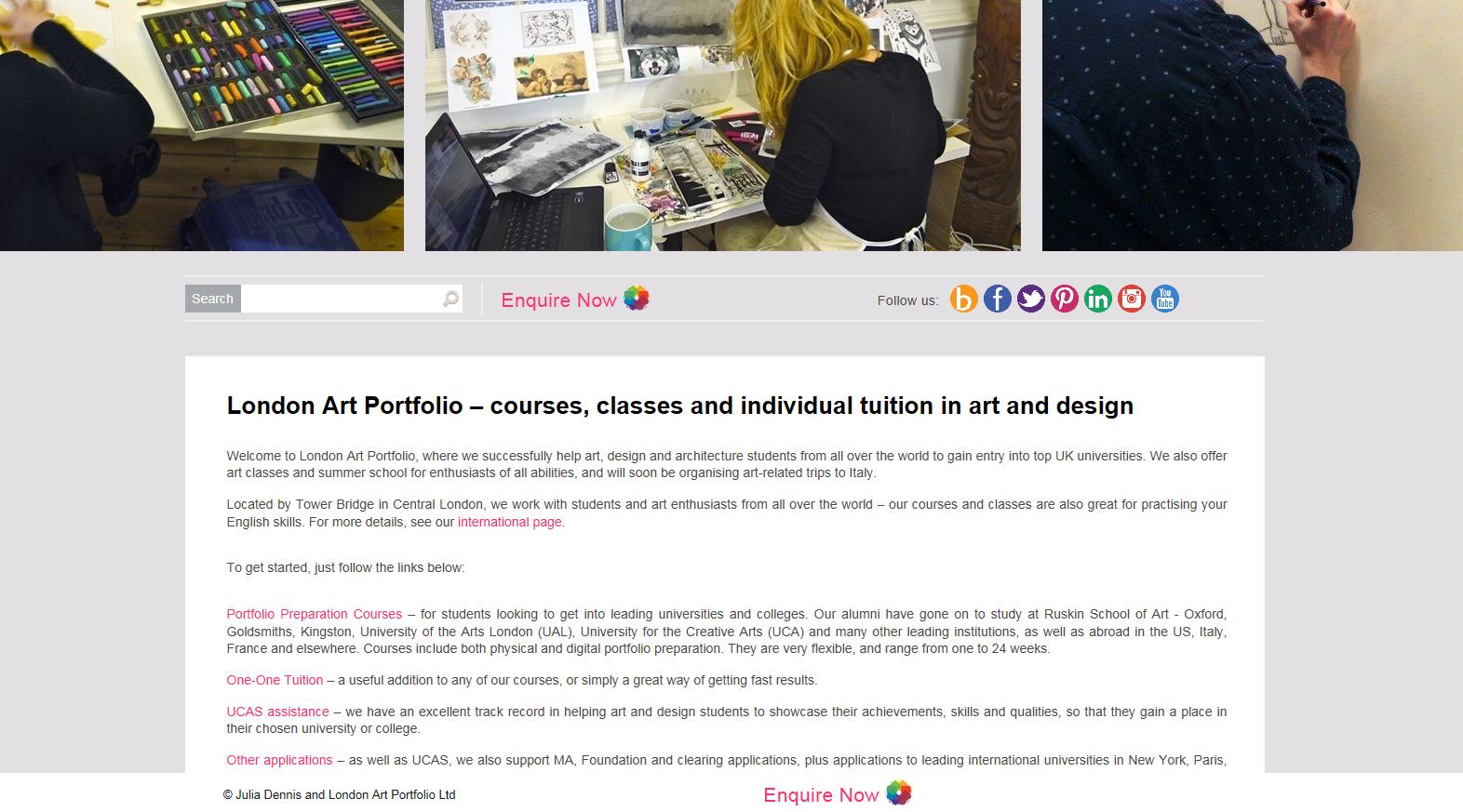 London Art Portfolio website