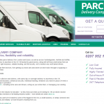 Parcel Delivery Company website homepage