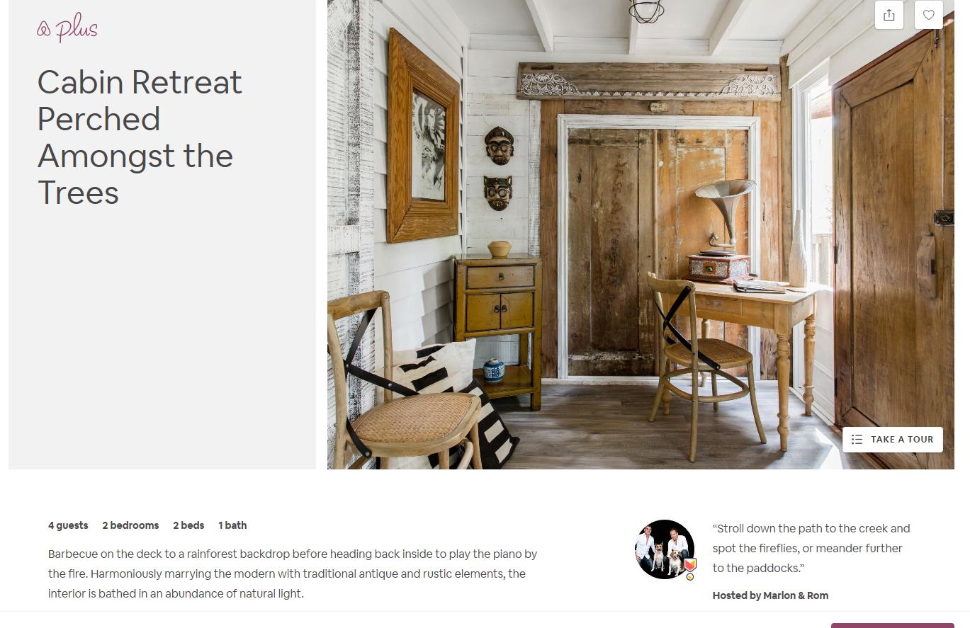 Airbnb Catskills listing