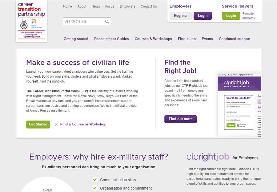 CTP website homepage