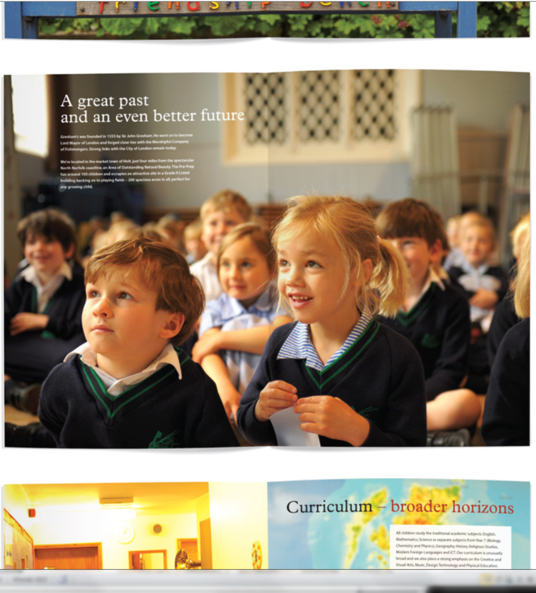 Greshams brochure page