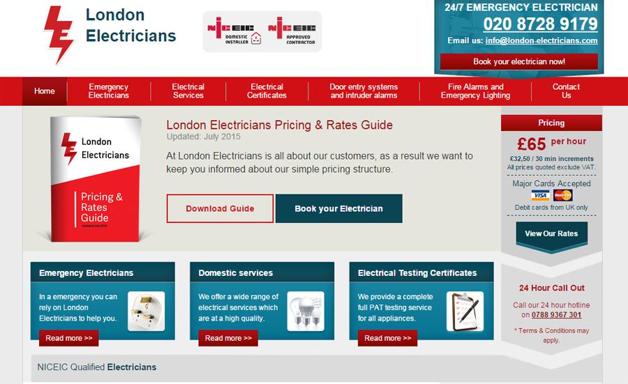 London Electricians website