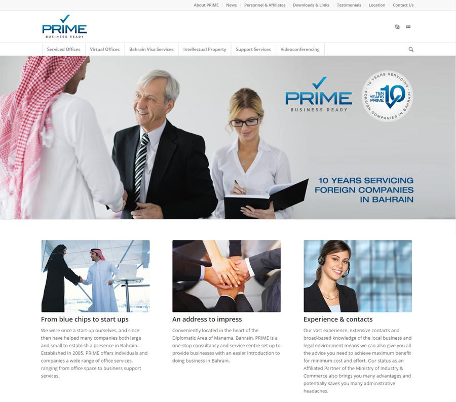 PRIME Instant Offices website