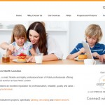 Website homepage of Rob's Decorators