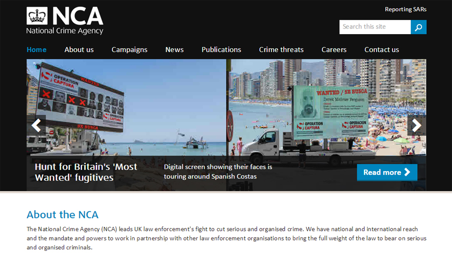 National Crime Agency website