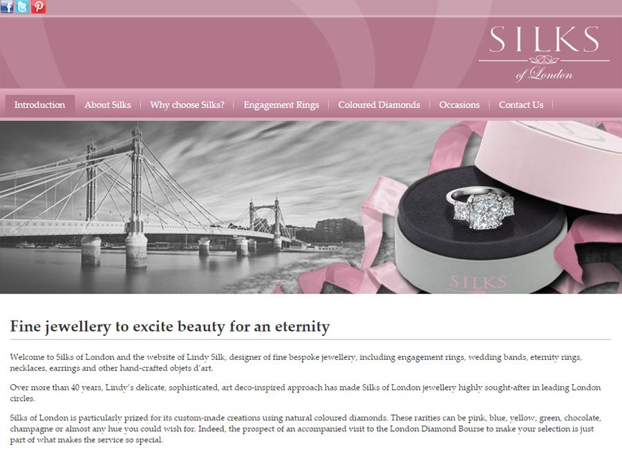 Silks of London website