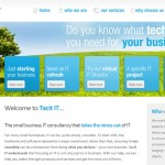 Tacit IT website homepage