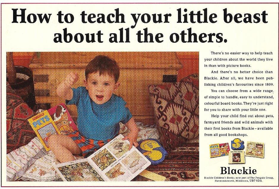 Blackie Publishing press ad