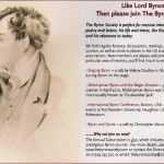 The Byron Society 1