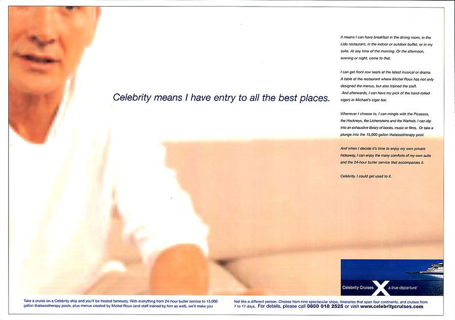 Celebrity Cruises press ad