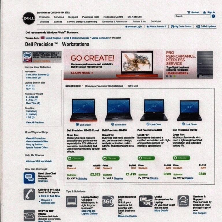 Dell digital page