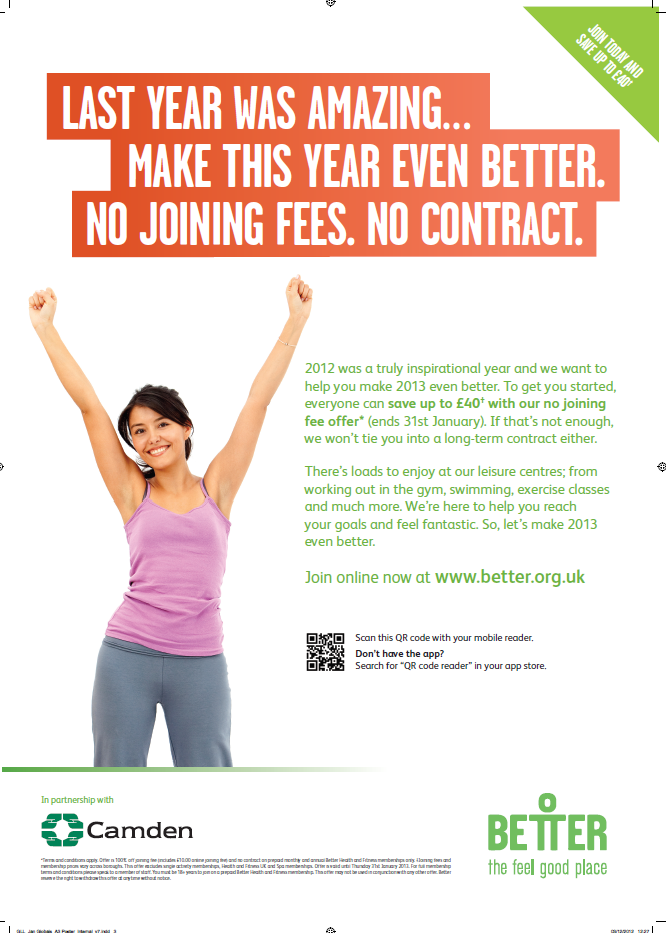 Better Gyms press ad