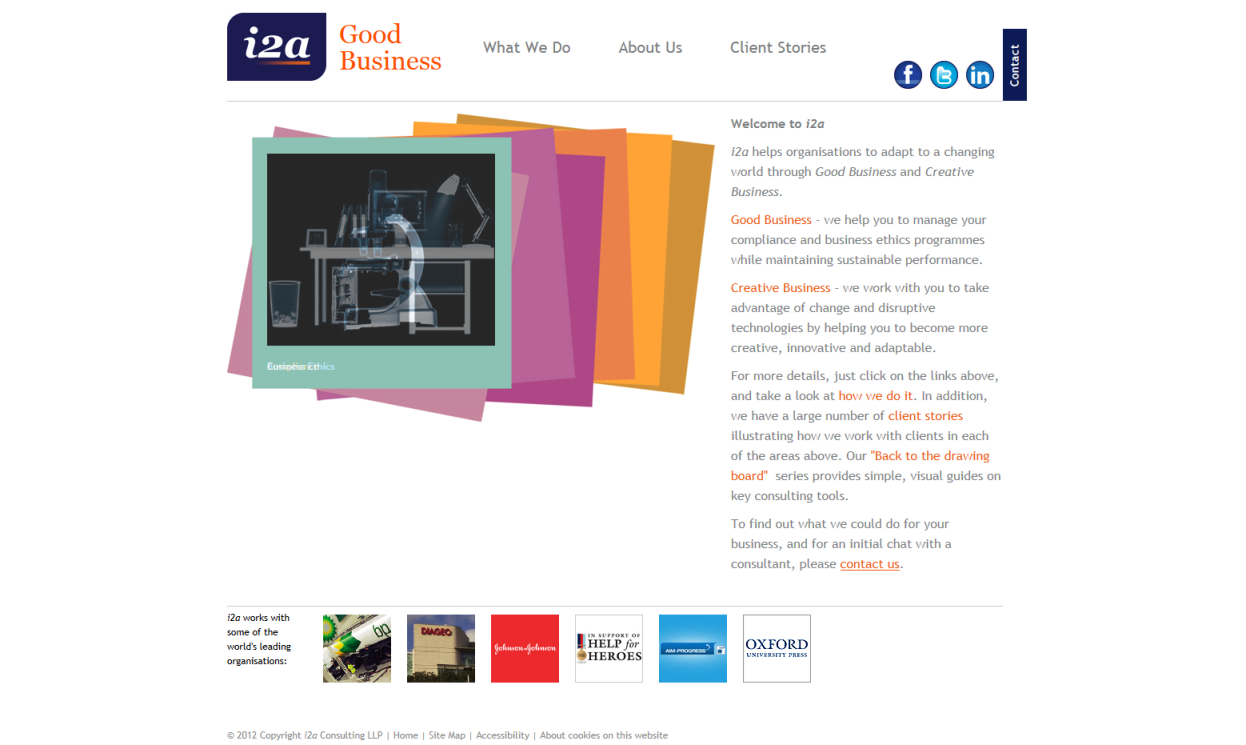 i2a Management Consultants website