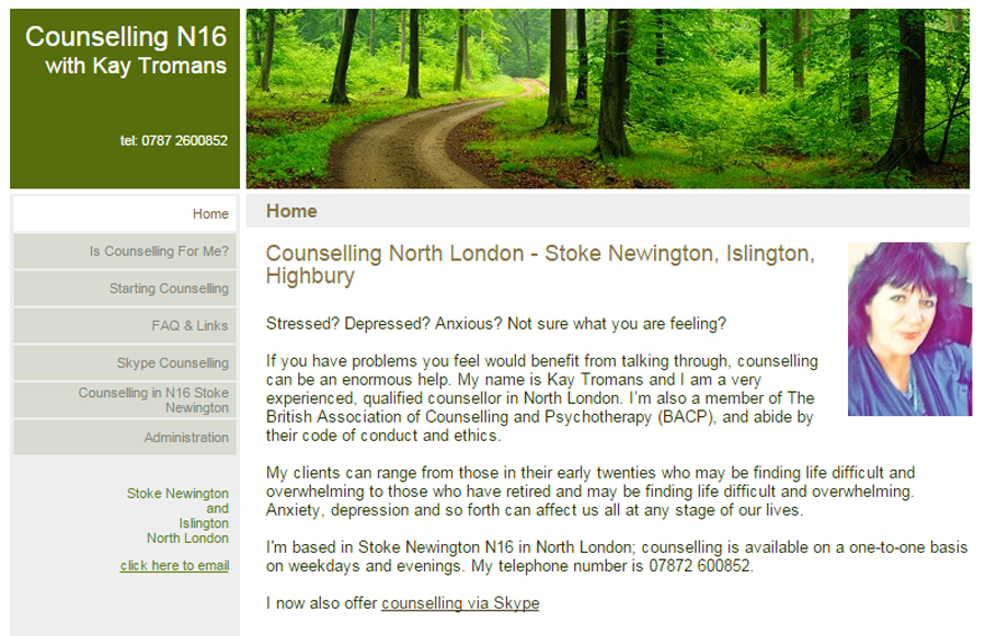 London Counsellor website