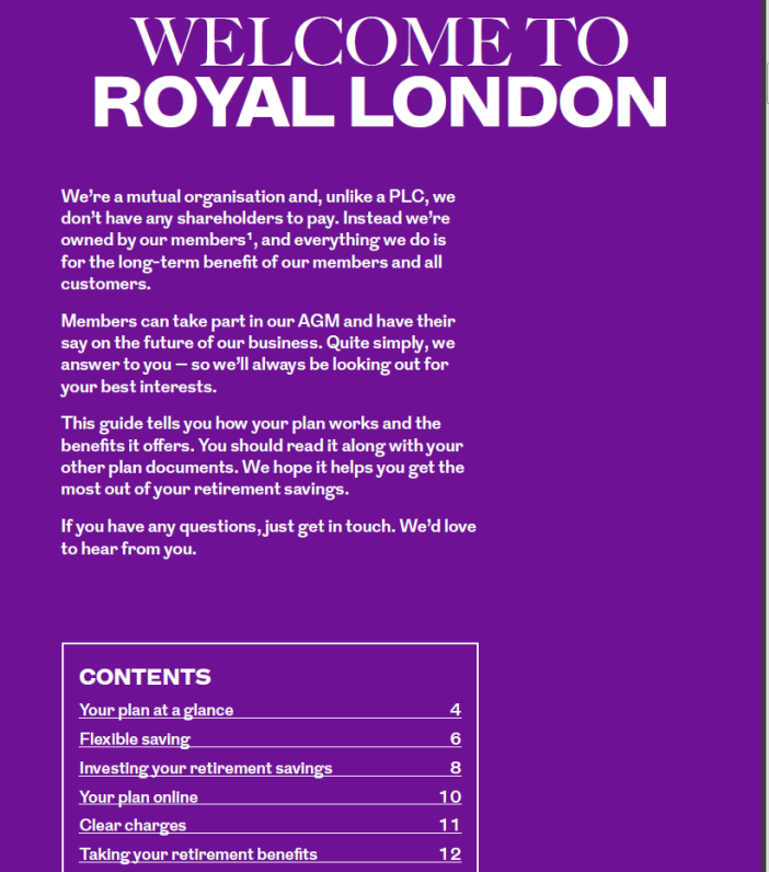 Royal London brochure - 2
