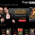 Website homepage of Stage on Screen