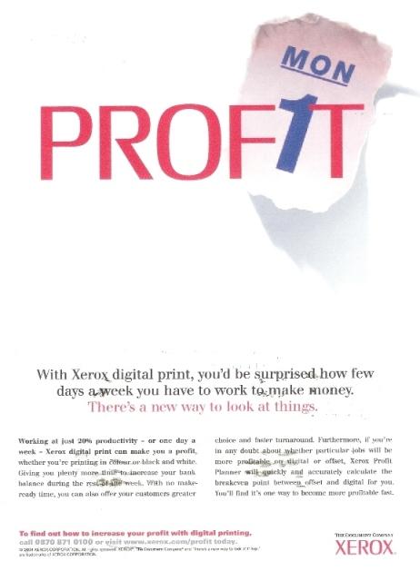 Xerox press ad