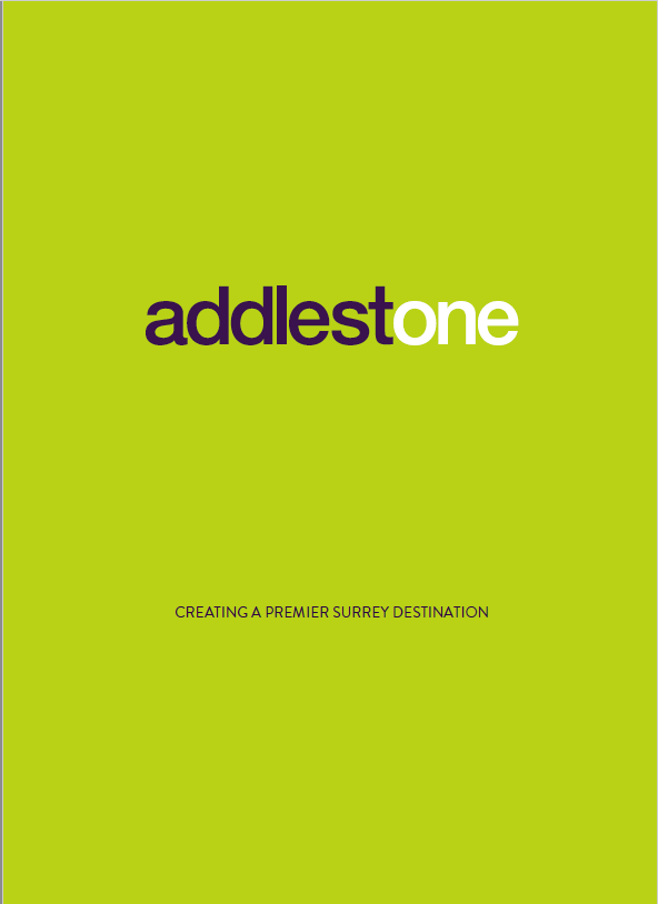 Addlestone property brochure - front cover