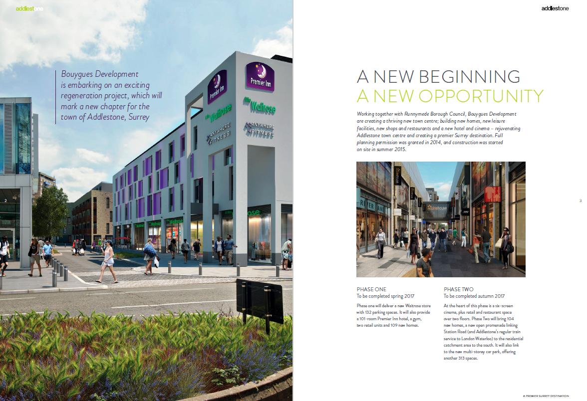 Addlestone property brochure - sample page 1