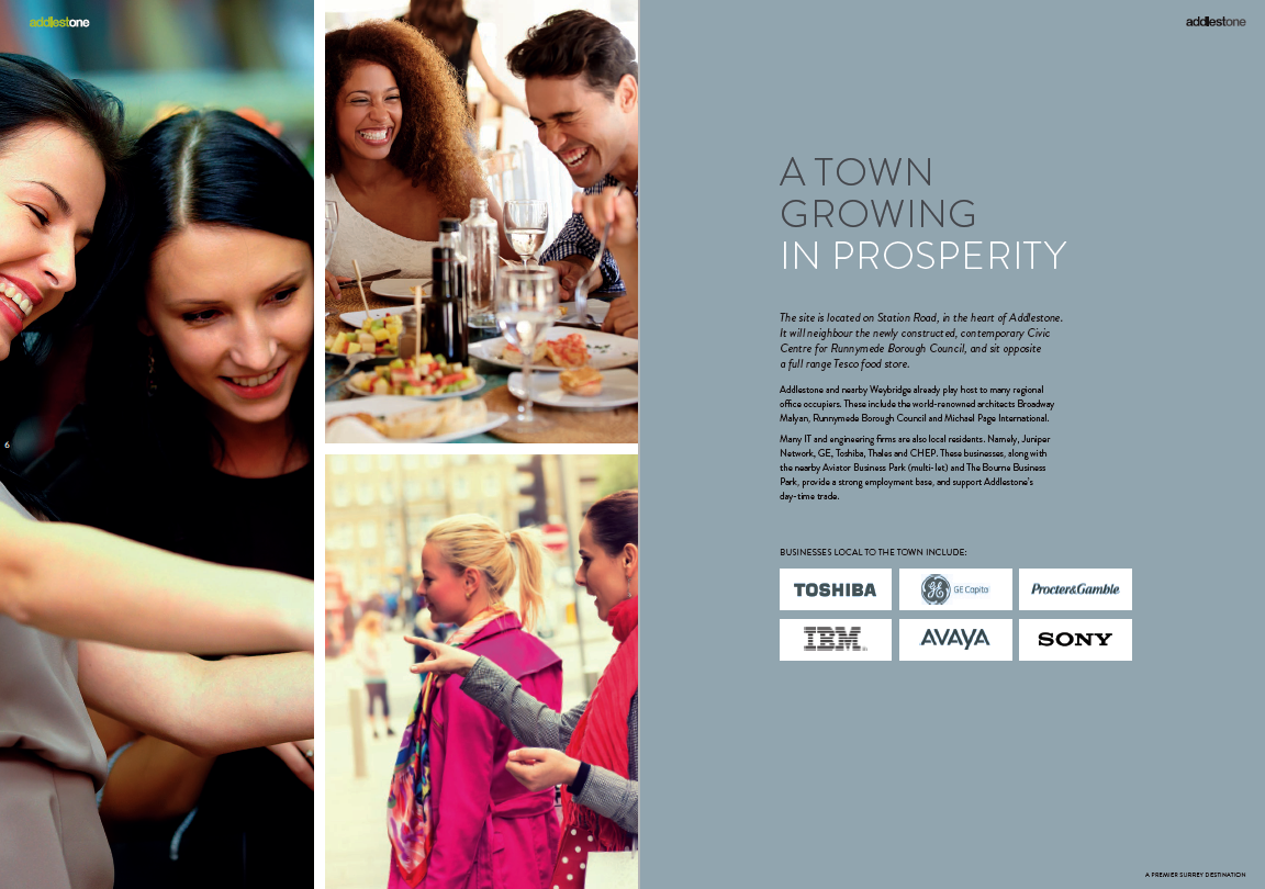 Addlestone property brochure - sample page 2