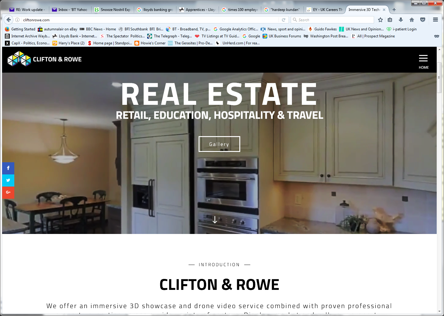 Clifton & Rowe property management - website page 1