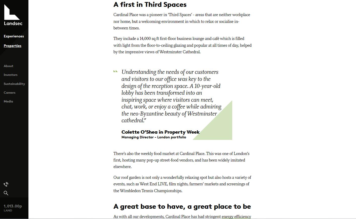 Cardinal Place property webpage - 3