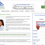 Repossession Advisory web page