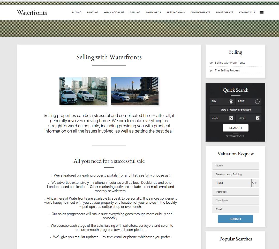 Waterfronts webpage