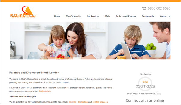 Website copywriting case study for small business Robs Decorators - Website copywriting for a London-based firm of Polish decorators. ...