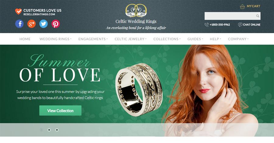 Celtic Wedding Rings webpage