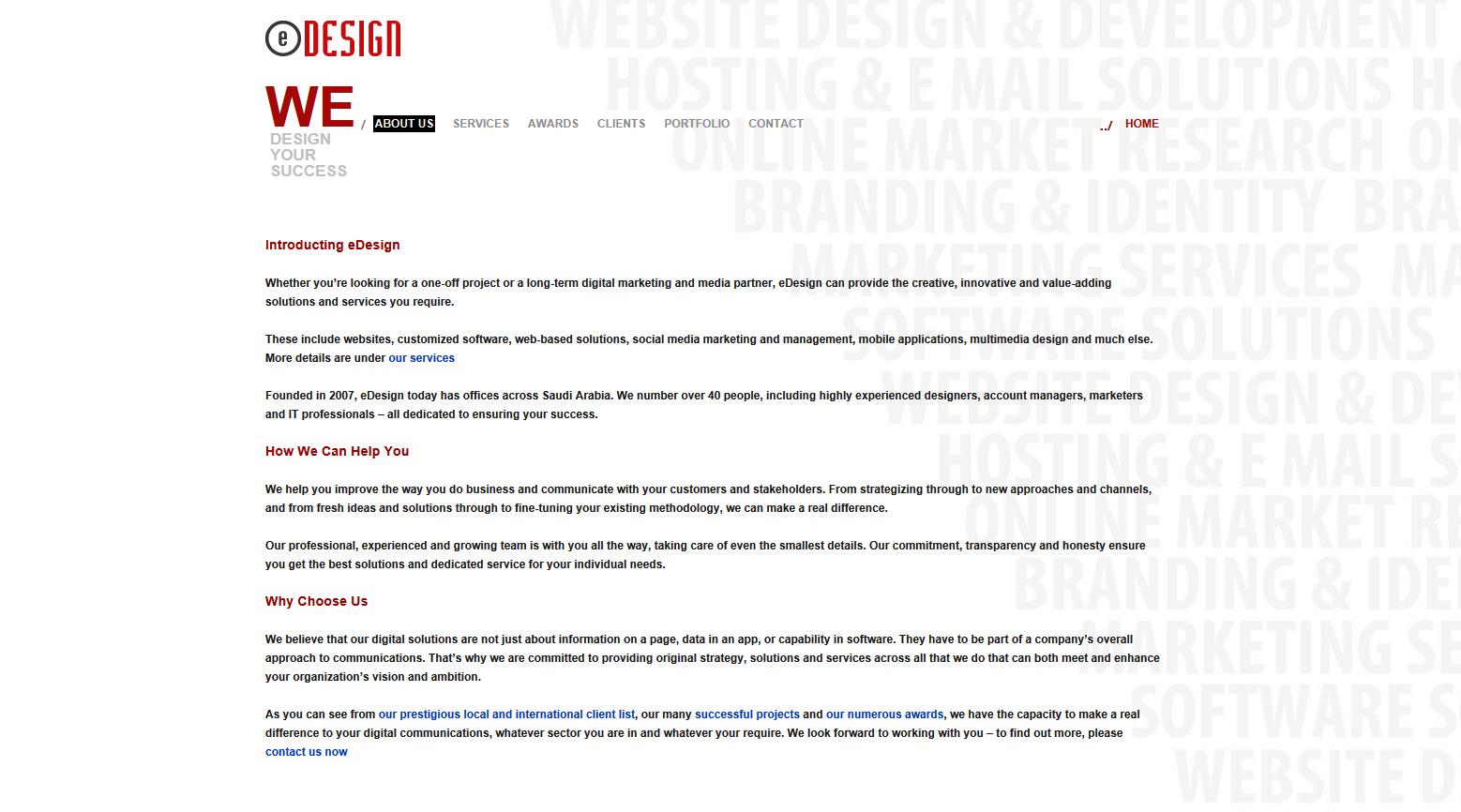eDesign Saudi Arabia website