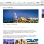 Discover Dubai web page