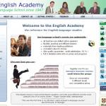 English Academy webpage