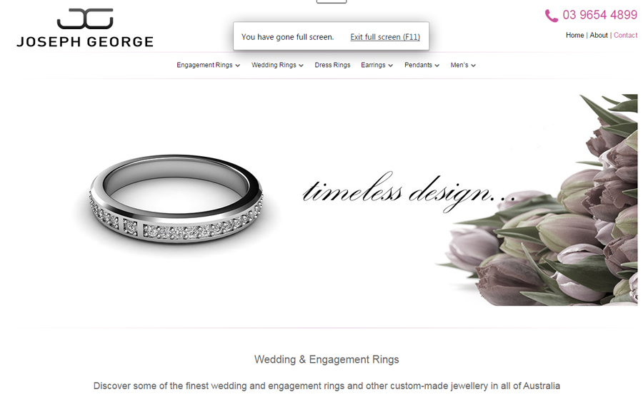 Joseph George Jewellery website