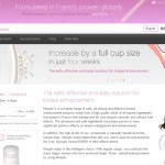 Moophi beauty products webpage