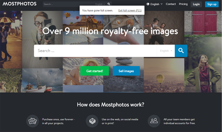 Mostphotos website