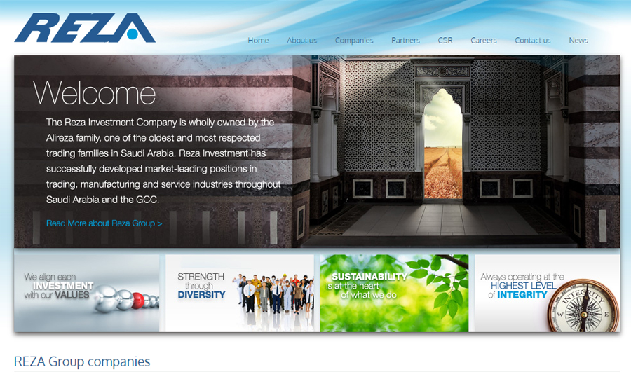 Reza Group website
