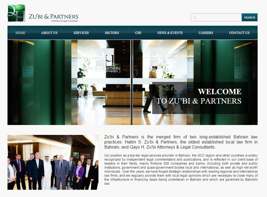 Zu'bi & Partners website