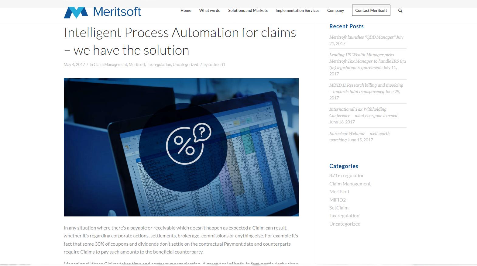 Meritsoft financial software - blogpost 1