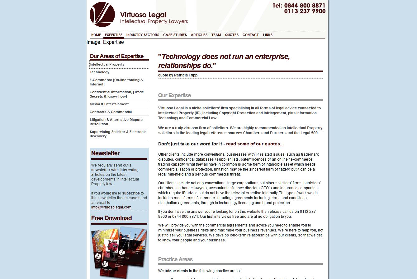 Law firm website - SEO II