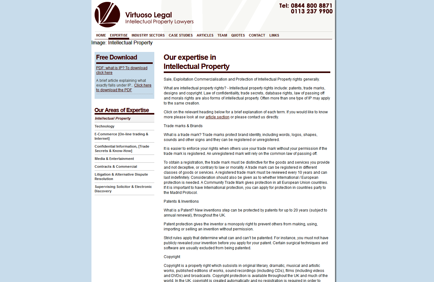 Law firm website - SEO III