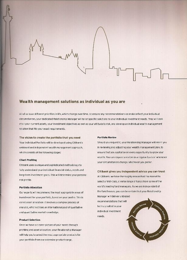 Citibank international personal banking brochure
