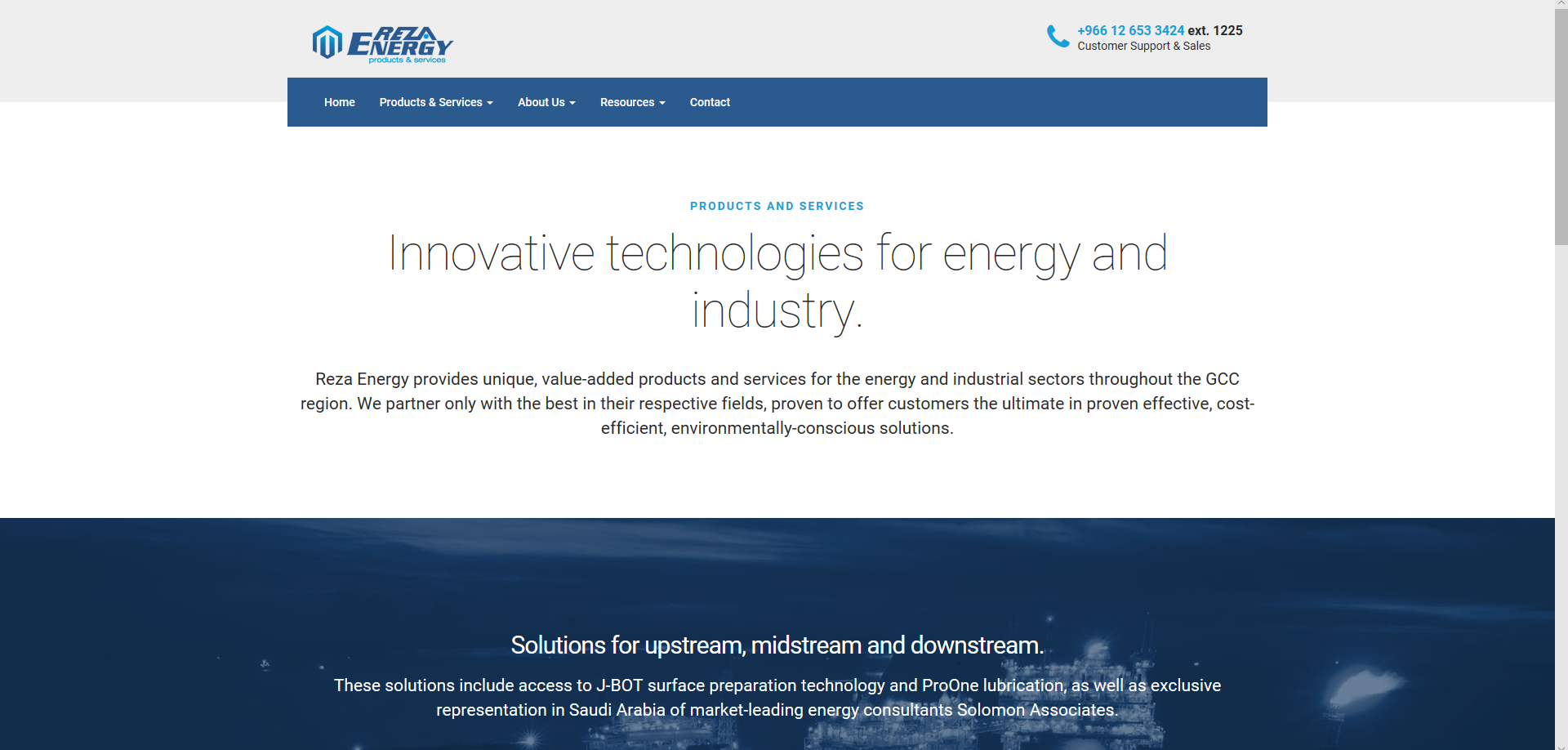 Reza Energy website copy