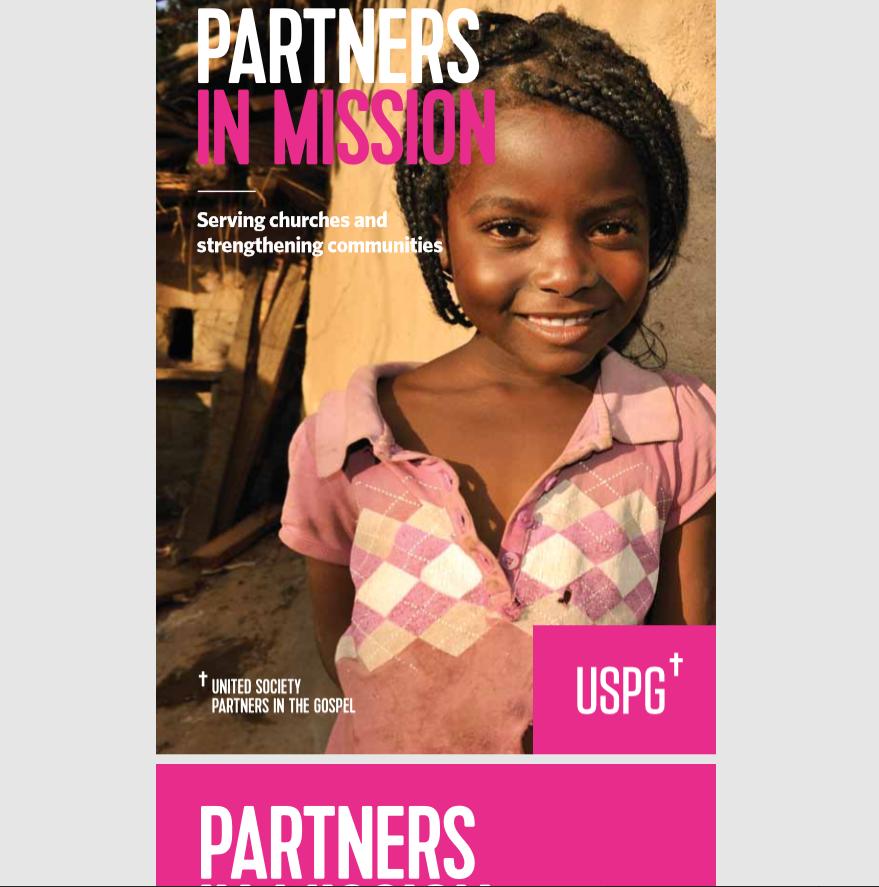 USPG charity brochure page